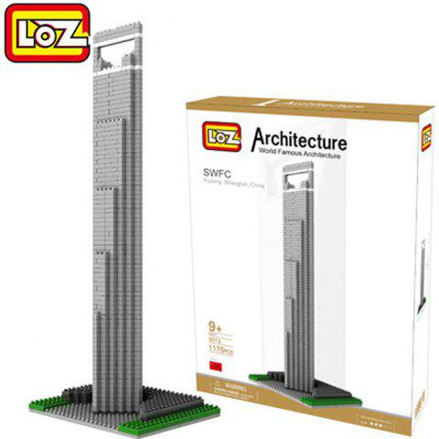 Store LOZ 1170Pcs 9372 Shanghai Financial Center Building Block Educational Kid Toy - World Great Architecture Series