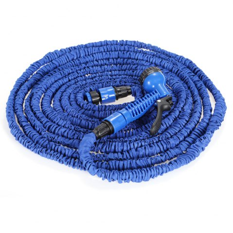 Hot 3 Times 7.5m Expandable Hose for Watering Plants / Washing Cars - BLUE  Mobile