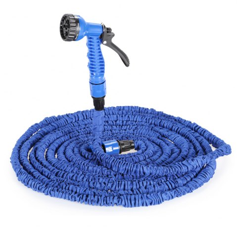 Shop 3 Times 7.5m Expandable Hose for Watering Plants / Washing Cars - BLUE  Mobile