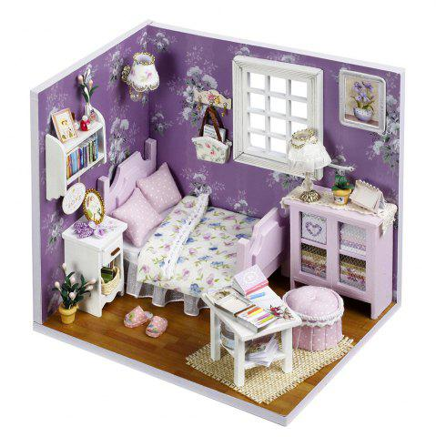 Shops DIY Wooden Doll House Miniature Kit with LED Light Furniture Handcraft Toy