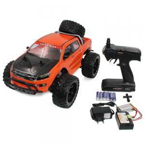 DOUBLE STAR 990A 1:10 4WD Off-road RC Truck RTR 25km/h 2.4GHz 4CH 390 Motor Spare Tire - ORANGE