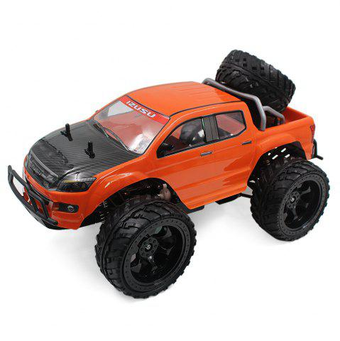 Sale DOUBLE STAR 990A 1:10 4WD Off-road RC Truck RTR 25km/h 2.4GHz 4CH 390 Motor Spare Tire - ORANGE  Mobile