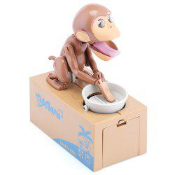 Creative Electric Steal / Eat Money Monkey Coins / Piggy Bank with Sound Effects -
