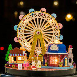 Intelligence Wooden DIY Doll House Miniature Kit 3D Jigsaw Puzzle -