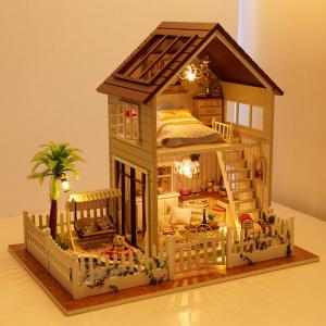 DIY Wooden House Furniture Handcraft Miniature Kit - COLORMIX