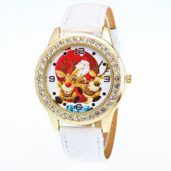 Artificial Leather Santa Christmas Elk Watch