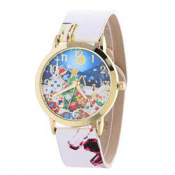 Artificial Leather Santa Christmas Gift Watch -