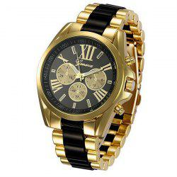 Roman Numerals Steel Watch