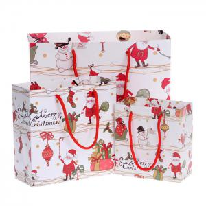 3PCS Christmas Cartoon Souvenir Present Bags Festival Product - COLORMIX