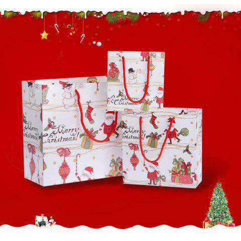 Chic 3PCS Christmas Cartoon Souvenir Present Bags Festival Product COLORMIX