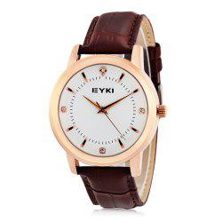 EYKI 8599 Fashion Women Quartz Watch with Rhinestone Scale