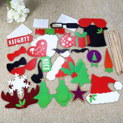 28PCS Cute Christmas Card Photo Props - COLORMIX