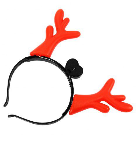 Cheap 1PC Creative Christmas Antler LED Light Hair Band - COLORMIX  Mobile