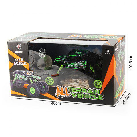 Fancy WLtoys 18428 - B 1:18 4WD RC Climbing Car 2.4GHz 4CH 9km/h Proportional Controlled All Terrain Vehicle - GREEN  Mobile