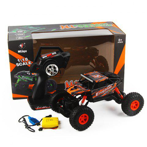 Trendy WLtoys 18428 - B 1:18 4WD RC Climbing Car 2.4GHz 4CH 9km/h Proportional Controlled All Terrain Vehicle - ORANGE  Mobile