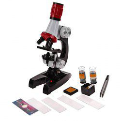 100X 400X 1200X Microscope for Children Early Studying Educational Toy -