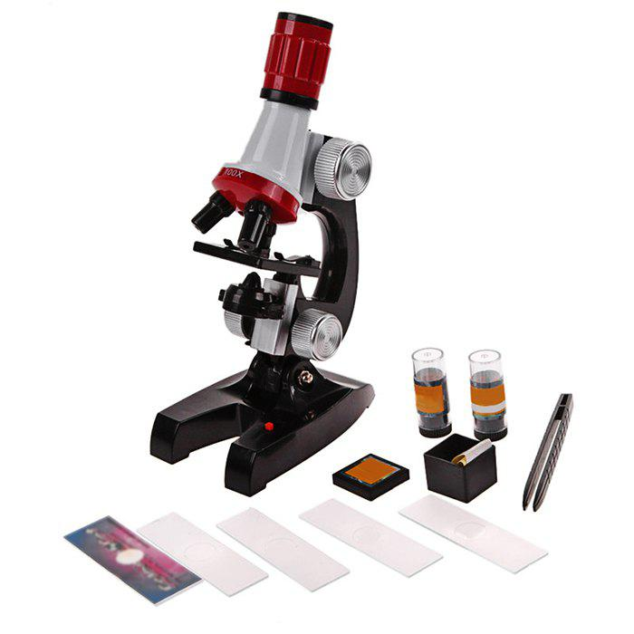 Outfit 100X 400X 1200X Microscope for Children Early Studying Educational Toy
