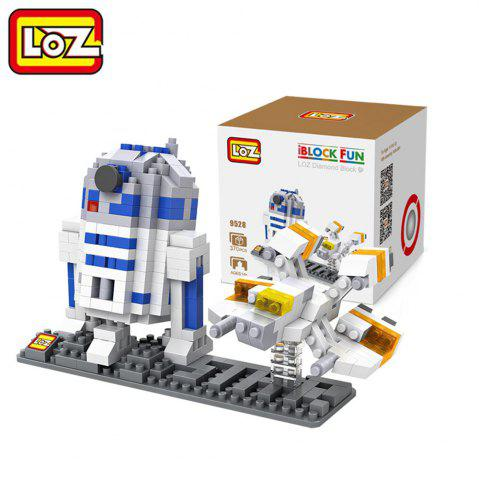 LOZ No. 9528 370Pcs R2 - D2 Astronaut Robot Building Block Educational Toy Birthday Present - Colormix