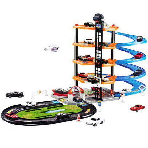 Chic 3D Car Parking Lot DIY Model Assembly Toy for Children