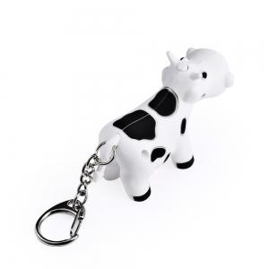 Ox Style Key Chain Hanging Pendant ABS Voice LED Light Control Bag Decoration -