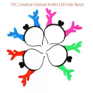 1PC Creative Christmas Antler LED Light Hair Band