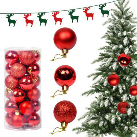 Hot 24PCS Christmas Tree Decorative Balls Home Decoration - RED  Mobile