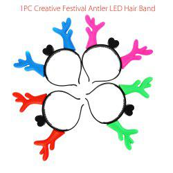 1PC Creative Christmas Antler LED Light Hair Band -