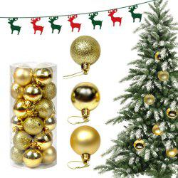 Balles Décoratives d'Arbre de Noël 24PCS -