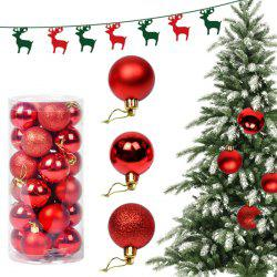 24PCS Christmas Tree Decorative Balls Home Decoration - RED