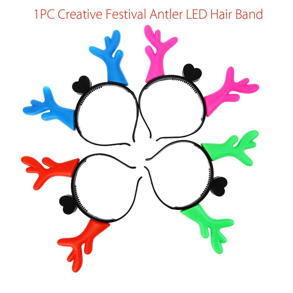 1PC Creative Christmas Antler LED Light Hair BandHOME<br><br>Color: COLORMIX; Product weight: 0.037 kg; Package weight: 0.057 kg; Product size (L x W x H): 22.50 x 17.50 x 1.40 cm / 8.86 x 6.89 x 0.55 inches; Package size (L x W x H): 23.50 x 18.50 x 2.40 cm / 9.25 x 7.28 x 0.94 inches; Package Contents: 1 x Creative LED Hair Band;