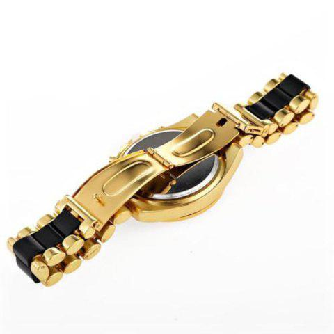 Outfits Roman Numerals Steel Watch - BLACK  Mobile