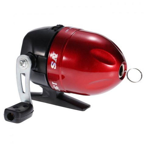 Online Fish Tackle Closed Face Spinning Fishing Reel with Line RED
