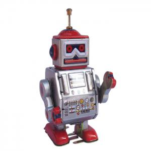 Classical Robot Design Clockwork Tin Toy Intelligent Present for Kid - COLORMIX