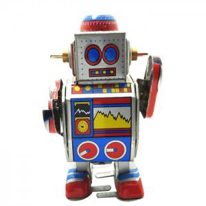 Robot Style Classical Clockwork Tin Toy Intelligent Christmas Present - COLORMIX
