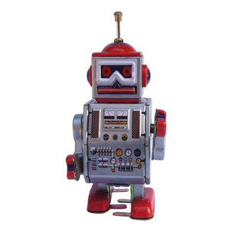 Sale Classical Robot Design Clockwork Tin Toy Intelligent Present for Kid COLORMIX