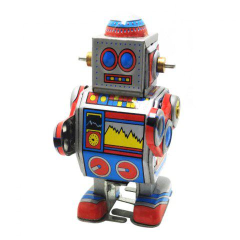 Affordable Robot Style Classical Clockwork Tin Toy Intelligent Christmas Present COLORMIX
