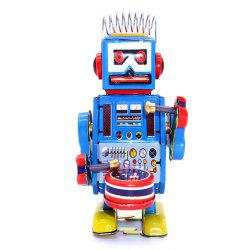Classical Clockwork Tin Toy Robot Style Intelligent Present -