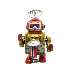 Robot Style Classical Clockwork Tin Toy Intelligent Present for Kid -