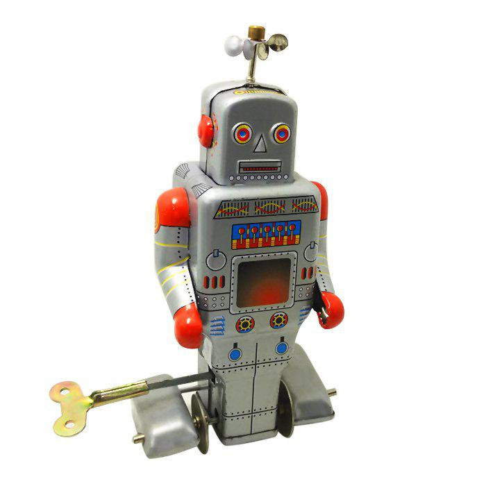 Online Classical Robot Style Clockwork Tin Toy Intelligent Present