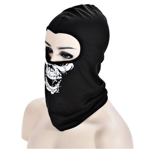 Store Outdoor Cycling Skull Mask CS Game Face Guard Riding Headgear - LAVA BLACK  Mobile