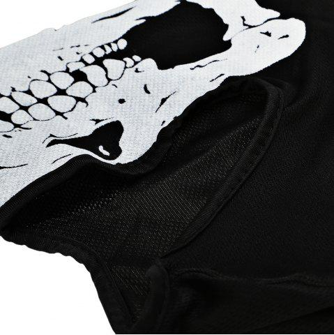 Affordable Outdoor Cycling Skull Mask CS Game Face Guard Riding Headgear - LAVA BLACK  Mobile