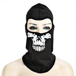 Masque de crâne de vélo en plein air CS Game Face Guard Equitation Headgear - Mu00e9tal Pistolet