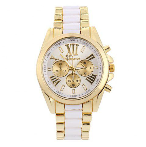 Trendy Roman Numerals Steel Watch