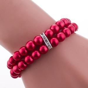 Beaded Bracelet Watch - RED