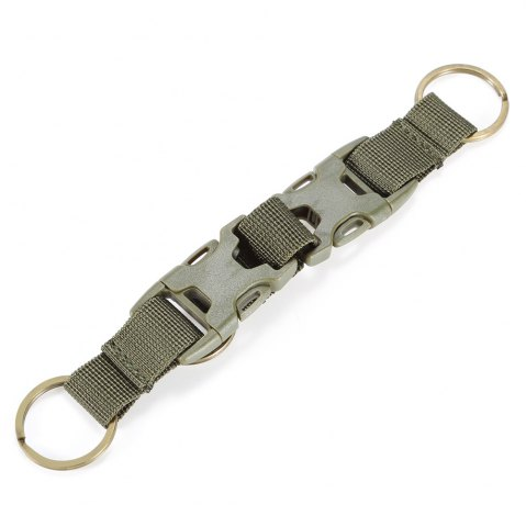 Shops High-density Nylon Tactical Keychain with 3 Key Rings for MOLLE System - ARMY GREEN  Mobile