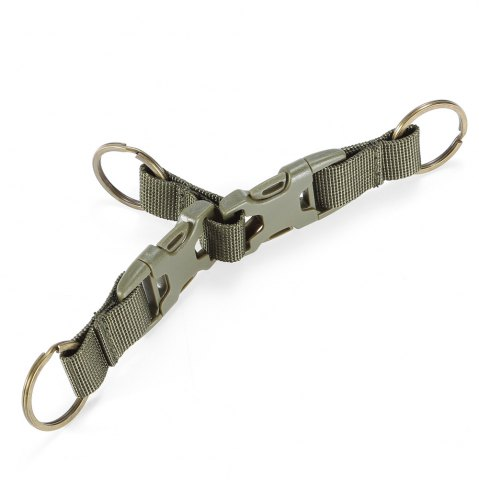 Sale High-density Nylon Tactical Keychain with 3 Key Rings for MOLLE System - ARMY GREEN  Mobile