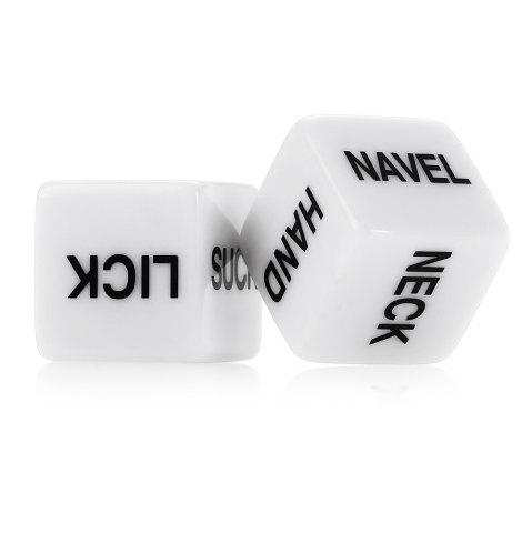 Shop 1 Pair of Humour Sex Dice Gambling Fun Toys for Couples Romance Erotic Craps Dice Pipe