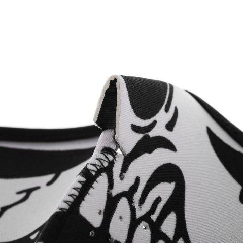 Discount Outdoor Cycling Skull Mask Windproof Riding Face Guard - WHITE AND BLACK  Mobile