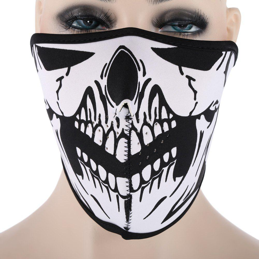 Outdoor Cycling Skull Mask Windproof Riding Face GuardHOME<br><br>Color: WHITE AND BLACK; Product weight: 0.040 kg; Package weight: 0.060 kg; Product Dimension: 50.00 x 15.00 x 0.50 cm / 19.69 x 5.91 x 0.2 inches; Package Dimension: 30.00 x 18.00 x 1.00 cm / 11.81 x 7.09 x 0.39 inches;