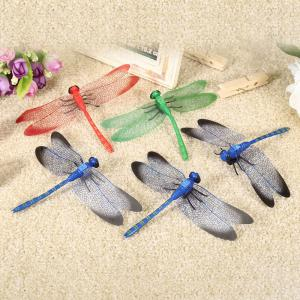 Mini Dragonfly Fridge Magnet Cute Rubber Animal Toy Novelty Curiously Awesome Gift - 5pcs / set -